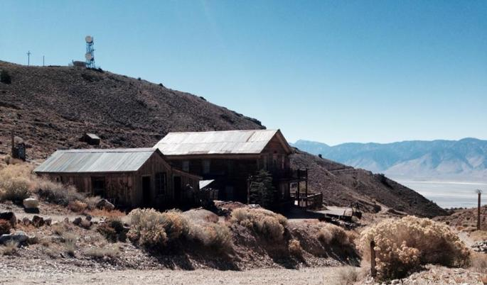 Cerro Gordo ghost town from the late 1800's