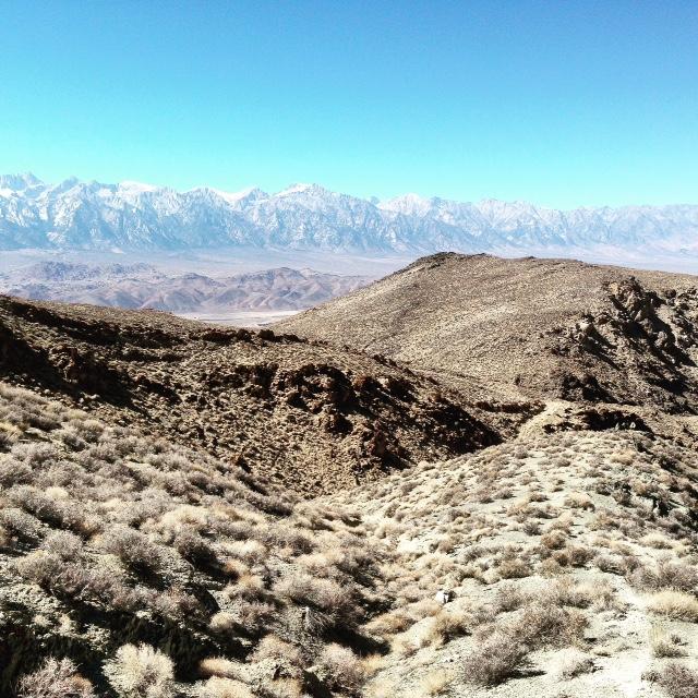 Ridge line before descent into Long John Canyon